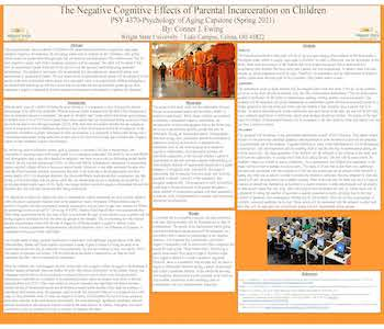 Negative Cognitive Effects of Parental Incarceration on children