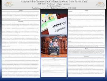 Academic Performance in Children Adopted from Foster Care