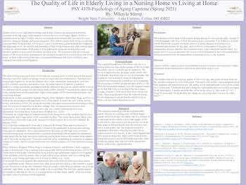 The Quality of Life in Elderly Living in a Nursing home vs Living at Home